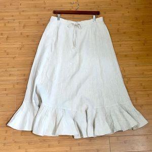 Liz Claiborne Linen Maxi Skirt